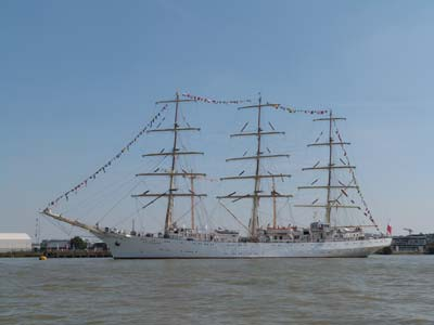 One of the Tall Ships Dressed Overall